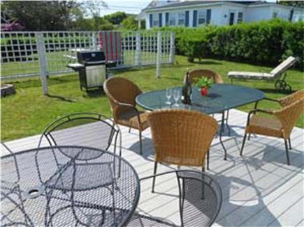 East Falmouth Cape Cod vacation rental - View of backyard with deck and grill from back door