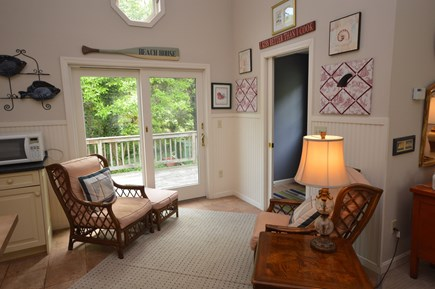Orleans Cape Cod vacation rental - Cozy lounge nook with views of back yard