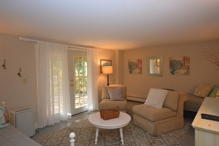 Orleans Cape Cod vacation rental - Lower level seating area with TV, twin bed and daybed