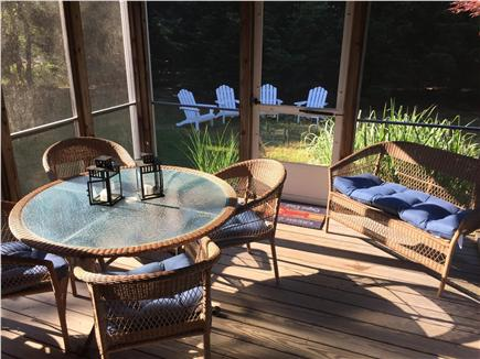 North Eastham Cape Cod vacation rental - Screened in porch with ceiling fan