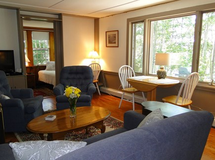 Orleans Cape Cod vacation rental - Living room with window facing water, great place for breakfast