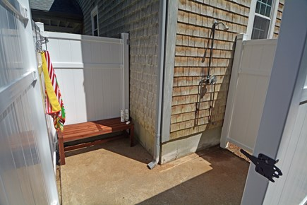 North Falmouth Cape Cod vacation rental - Large Outside Shower