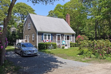 North Falmouth Cape Cod vacation rental - Front with sunny porch to sit and read a book