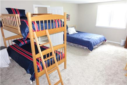 North Falmouth Cape Cod vacation rental - Large 3rd bedroom with new queen bed and mattress. Bunk Beds