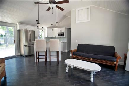 West Yarmouth Cape Cod vacation rental - Temporary staging of open kitchen, dining, living area.