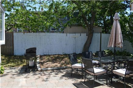 Hyannis Cape Cod vacation rental - Outdoor Patio outside of side door. (Gas Grill, Table for 6)