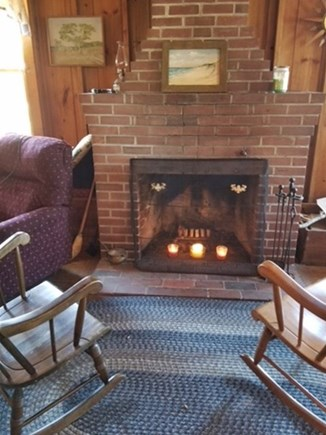Brewster Cape Cod vacation rental - Enjoy an evening in the living room with a fireplace