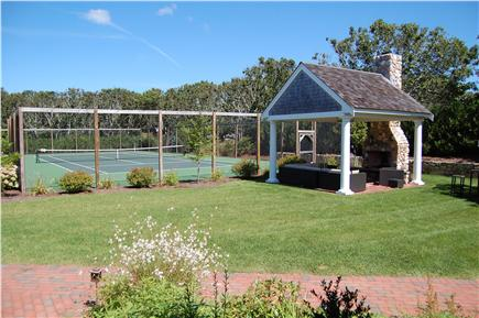 Harwich Port Cape Cod vacation rental - Private tennis court & Gazebo with speakers & Fireplace