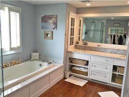Harwich Port Cape Cod vacation rental - Master Bath - shower & tub