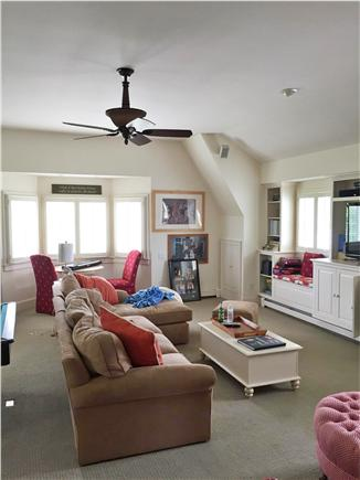 Harwich Port Cape Cod vacation rental - Great room over garage with bumper pool table & 55'' TV