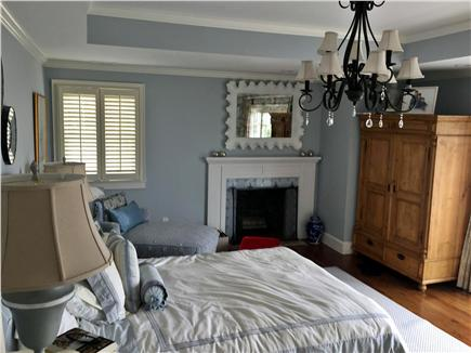 Harwich Port Cape Cod vacation rental - Master bedroom - Queen Bed Private deck with Double chaise lounge