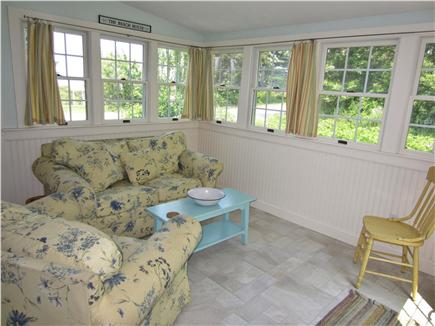 East Dennis Cape Cod vacation rental - Sun filled Sunroom with views of the Bay