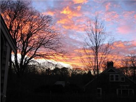 Orleans Cape Cod vacation rental - Sunset views from cottage towards the main house