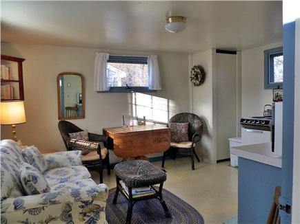 Orleans Cape Cod vacation rental - Overall view of kitchen/living/dining area w/new TV & Central AC