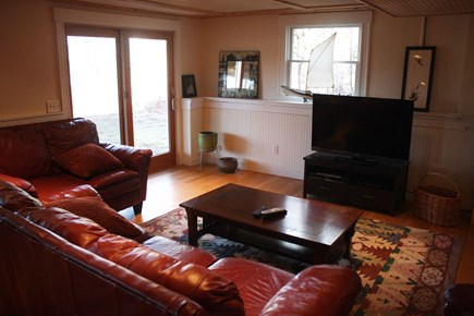 Chatham Cape Cod vacation rental - Large Den/Recreation room walks out to beautiful back yard