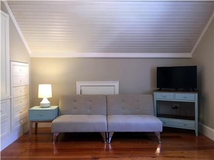 Yarmouthport Cape Cod vacation rental - Other view of king sized bedroom with convertible sofa