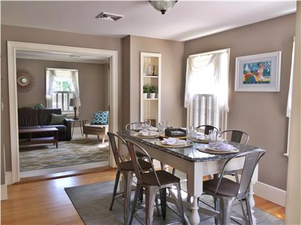 Yarmouthport Cape Cod vacation rental - Dining area looking in to living room