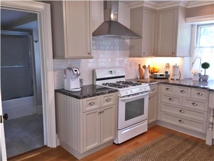 Yarmouth Port Cape Cod vacation rental - Kitchen and entry into 1st floor bathroom