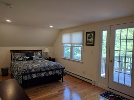 Eastham Cape Cod vacation rental - Master bedroom with Queen bed and private deck