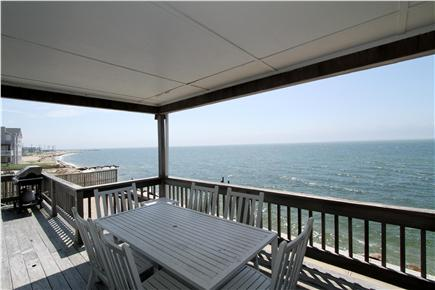 East Falmouth Cape Cod vacation rental - Dine on the covered portion of the deck.