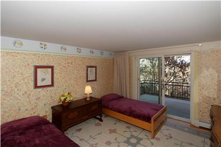 Chatham Cape Cod vacation rental - Another bedroom with 2 twins, plus sliding door access to deck.