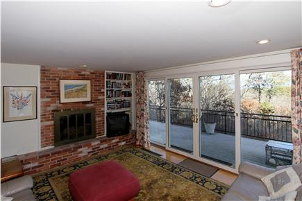 Chatham Cape Cod vacation rental - Sliding glass doors in the living area lead to the deck.