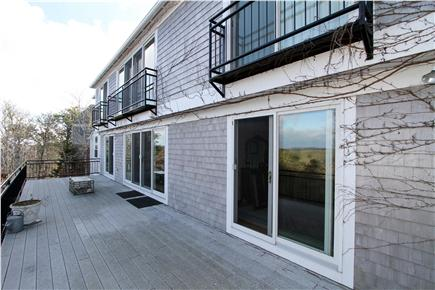 Chatham Cape Cod vacation rental - The 50-ft. deck features expansive hilltop views and space.