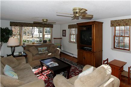 Eastham Cape Cod vacation rental - This family-friendly living room offers abundant natural light