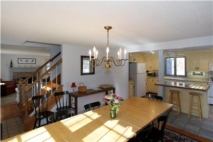 Eastham Cape Cod vacation rental - An expandable light wood table lets you host anything