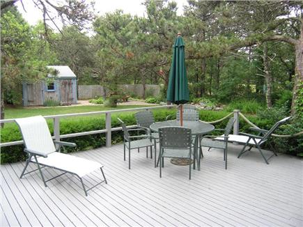 Eastham Cape Cod vacation rental - A spacious back deck is perfect for soaking in the sun in privacy