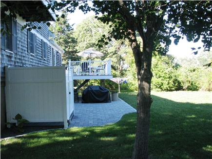 Harwichport Cape Cod vacation rental - Custom outdoor shower, patio with gas grill and huge backyard!