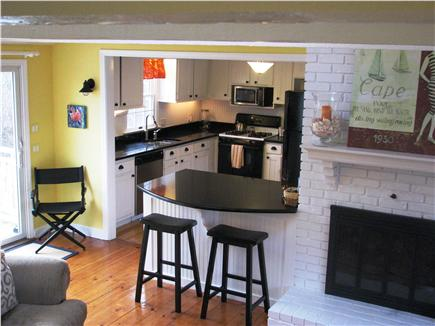 Harwichport Cape Cod vacation rental - Family room into open kitchen