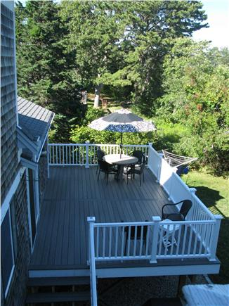 Harwichport Cape Cod vacation rental - Outdoor dining overlooking the marsh on spacious deck