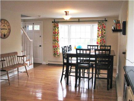 Harwichport Cape Cod vacation rental - Dining area - table seats 8 comfortably