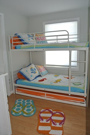 New Seabury, Popponesset New Seabury vacation rental - Bedroom #3 (kids room) w/ Twin Bunk Bed & Trundle