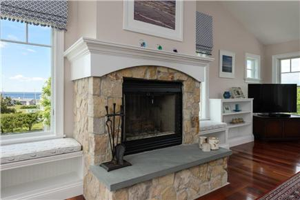 Falmouth Cape Cod vacation rental - Sit next to the fireplace and enjoy the views