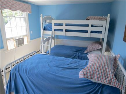 Harwich Cape Cod vacation rental - Bedroom #3 with bunk beds and a single twin.