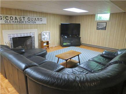 Harwich Cape Cod vacation rental - Lower level TV lounge also has a pool table and poker table.