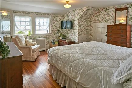 Falmouth Cape Cod vacation rental - Master bedroom overlooks beach and Vineyard Sound