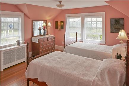 Falmouth Cape Cod vacation rental - Front bedroom overlooks Green Pond and Vineyard Sound