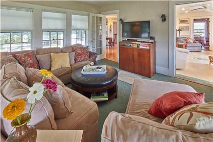 Falmouth Cape Cod vacation rental - Large sunroom with great cross-breezes