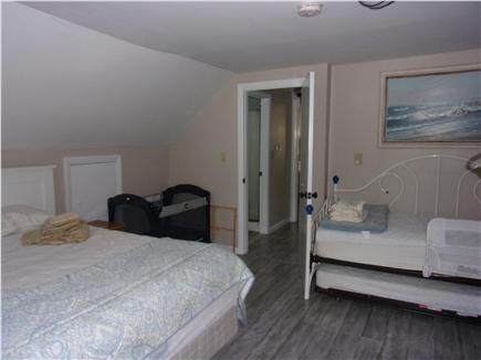 Falmouth Cape Cod vacation rental - Upstairs bedroom, queen bed, trundle bed and porta crib