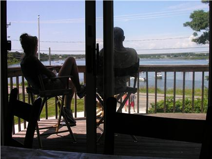 Downtown Chatham Cape Cod vacation rental - Morning coffee on the deck!