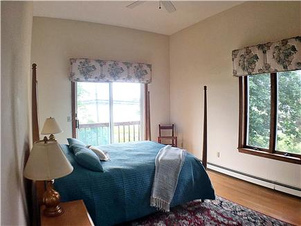 Downtown Chatham Cape Cod vacation rental - Mater bedroom - attaced full bath, private deck, waterview