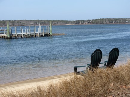 Mashpee Cape Cod vacation rental - Over 100ft. of private sandy beach for swimming or relaxing views