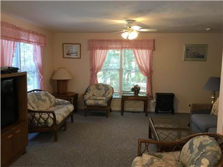 Mashpee Cape Cod vacation rental - Our spacious living/dining room with pull-out couch