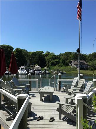 mashpee Cape Cod vacation rental - Have a cocktail and watch the boats go by
