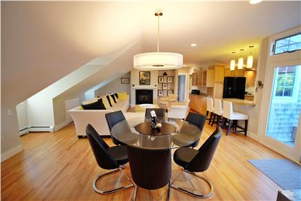 Provincetown Cape Cod vacation rental - Dining Room and view to living area