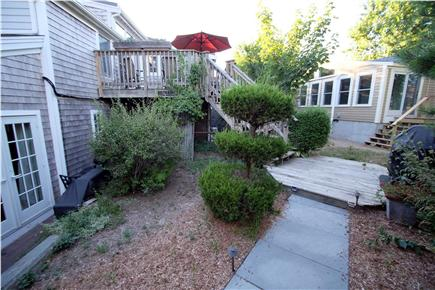 Provincetown Cape Cod vacation rental - Path to stairs and entry and dining deck.