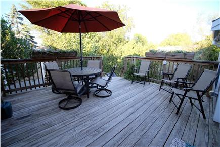Provincetown Cape Cod vacation rental - View from the large private exclusive entry/dining deck